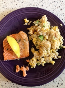 salmon & fried rice