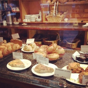 pastry case @ the bread peddler